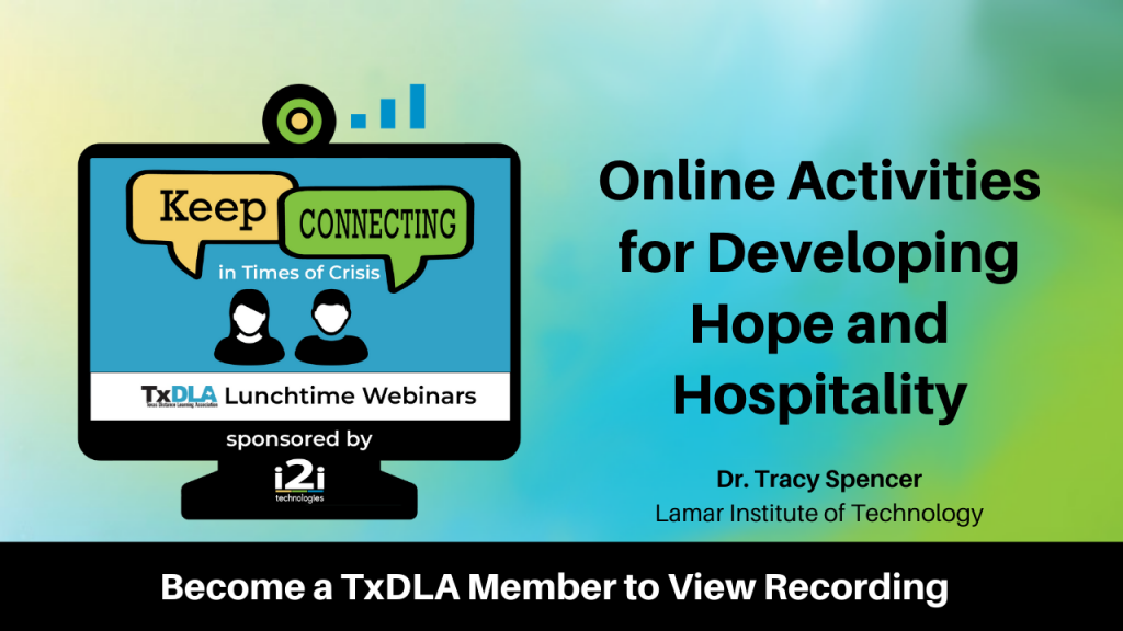 Developing Hope and Hospitality Online