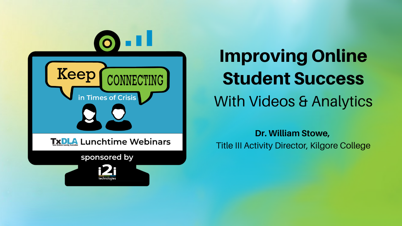 Dr. William Stowe shares about student engagement through video